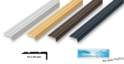 gebohrt inkl selbstklebend 30 x 42 x 1000 mm Montageset Treppenwinkel 30 x 42 mm in 6 Farben ungebohrt ungebohrt , schwarz