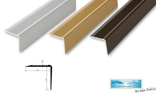 900 mm, edelstahl-look /Übergangsprofil 38 mm selbstklebend flach 6,21/€//m